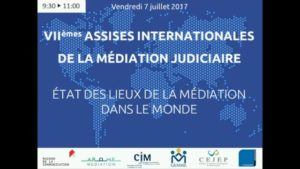 Assises internationales de la médiation judiciaire